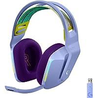 Logitech G733 LIGHTSPEED无线游戏耳机,可伸缩头围,LIGHTSYNC RGB,Blue VO!C…
