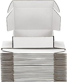 Yidomto 小邮箱,20.32 x 15.24 x 7.62 厘米一套 25 件白色牛皮纸瓦楞纸板邮寄袋礼品盒,适用于小型企业包装