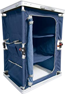 Ferrino 61789 折叠野营衣柜,蓝色