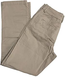 Lee Women's Petite Relaxed-Fit Plain Front Straight-Leg Pant