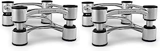IsoAcoustics Aperta 系列隔音扬声器支架倾斜调整:Aperta200(7.8 英寸 x 10 英寸)银色一对