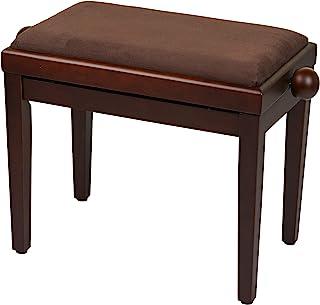 Bespeco SG101NOVM 钢琴凳由木质制成,哑光坚果树结构,天鹅绒棕色座椅