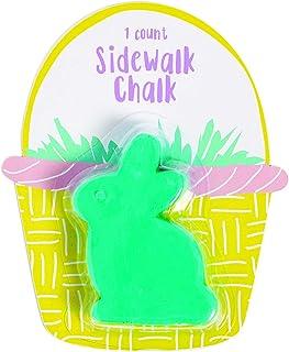 复活节兔子粉笔(12 件单独包装)复活节篮子填充物,春天人行道粉笔,基本用品,非常适合儿童复活节篮子玩具和户外活动