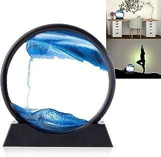 YOOLANSA 蓝色移动沙艺术沙景,3D 深海沙艺术圆,家居装饰和办公室运动中的沙画(7 英寸)