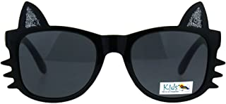 女童太阳镜 Kitty 猫 捕鲸鱼耳框 儿童时尚 UV 400