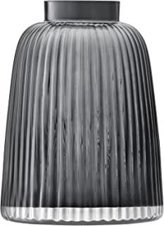 LSA International PT07 百褶花瓶,H 26cm,灰色