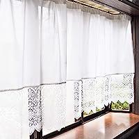 カエイレース(Kaei-lace) 蕾丝窗帘 300×130厘米 日本制造 花粉捕捉・隔热・防紫外线・遮挡 25012k…