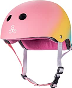 Triple Eight 认证防汗头盔,适用于滑板、小轮车和滑冰