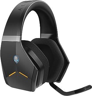 Alienware 無線游戲耳機 – Aw988 – 7.1 環繞聲 – RGB Alienfx – Boom 降噪麥克風 – 運動面料耳罩 – Works W/ PS4、Xbox One、Nintendo Switch & Mobile De...