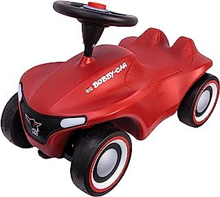 BIG-Bobby-Car-Neo 红色 – 适用于室内和室外的滑动车,带有现代设计的长笛轮胎,适合 1 岁以上儿童
