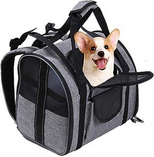 LUOWAN 小型犬狗背带,狗旅行包,狗背包带反光侧带,舒适床,3 门(公司认可)