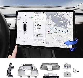 powoq Fit Tesla Model 3 型号 Y 屏幕旋转支架 GPS 导航旋转支架 *控制台车辆安装原始银色支架 适用于 2017-2021 型号 3 2020-2021 型号 Y 配件
