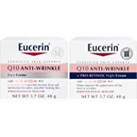 EUCERIN 优色林 Q10 抗皱日霜+晚霜 | 1.7盎司,48克(2包)