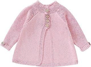 幼儿女婴外套秋冬儿童女婴斗篷纽扣夹克针织毛衣开衫婴儿外套服装