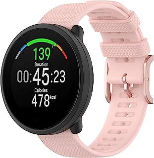 適用于 Polar Unite 女士男士手表帶,Polar Ignite 20 毫米硅膠快速釋放替換表帶腕帶表帶金屬扣適合三星 Galaxy Watch Active 2 40 毫米/44 毫米(粉色)