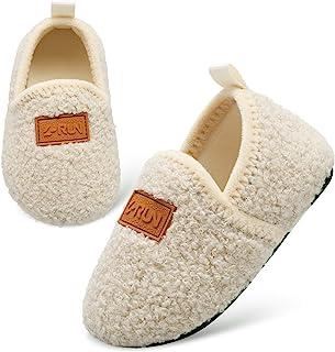 L-RUN 幼儿男孩女孩家居拖鞋室内家居鞋保暖袜适合儿童