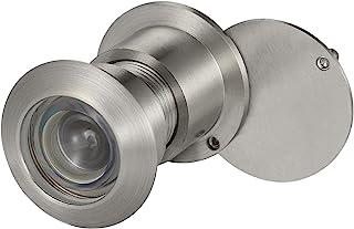 uxcell 黄铜门观众窥镜 220 度带旋转盖适用于 1-3/5 至 2-1/6 英寸门,拉丝银色表面