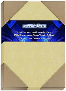 200 粒金色羊皮纸 65 磅 封面重量纸 - 10.16 厘米 X 15.24 厘米(10.16 厘米 X 15.24 厘米)照片|卡片|框架尺寸 - 可打印卡片彩色卡片纸,旧羊皮纸