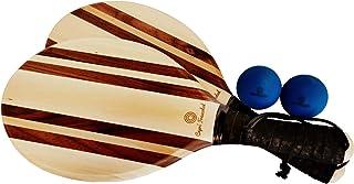 Capri Frescobol 经典实木沙滩划桨球套装 – 配有 2 个专业制作的划桨,带手带,2 个高分辨率球和 1 个沙滩包,可随身携带。