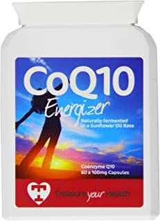 Treasure Your Health 100mg High Strength Coenzyme Q10 - Pack of 60 Capsules