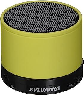 Sylvania SP631-蓝色便携式蓝牙音箱带 FM 收音机微型 SD 卡槽可充电电池和内置麦克风蓝色SP631-Yellow 不适用