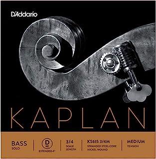 D'Addario KS615 3/4M Kaplan Solo 双低音 D 加长弦,3/4 比例,中等张力