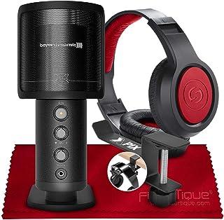 Beyerdynamic 拜亚动力 FOX 专业 USB 电容麦克风 + SR360 头戴式动态立体声耳机,耳机挂钩和纤维超细纤维清洁布