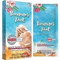Summer Foot 优质婴儿*面膜 | 去角质*去皮和去除角质,适合脚部 - 一次性*修复粗糙鞋跟