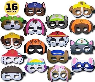 Weoxpr 24 件套*英雄面具眼罩毛毡角色扮演面罩半面罩派对用弹性绳,多色