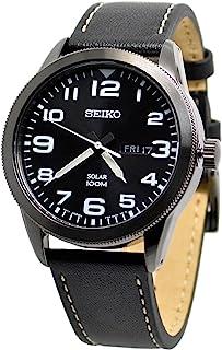 Seiko 太阳能黑色表盘男式手表 SNE477P1
