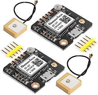2 件 GT-U7 GPS 模块导航卫星定位兼容 NEO-6M 51 MCU STM32 高灵敏度低功耗高精度定位,适合车辆