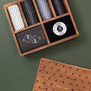 Iron And Glory 高品质扑克套装,棕色,18.6 x 21.6 x 7.5厘米