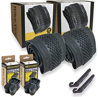 29 英寸(约 73.7 厘米)自行车轮胎替换套件适用于 29 英寸(约 73.7 厘米)山地自行车包括轮胎杠杆工具。 带或不带管子,选择 1 或 2 个装。