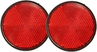 2 件装圆形自行车反光摩托车反光反光反光板螺栓牌(红色)