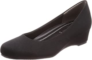 [罗密欧华伦天奴] 缎子 圆楔形鞋跟4cm 足围3E B17103 女式