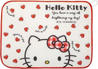 Skater 斯凯达 沥水垫 餐具沥水器 Hello Kitty Red Heart 三丽鸥 31×41cm KM1