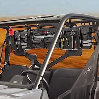 UTV 卷笼收纳袋,Klutchtech 卷杆货物后储物袋,带反光条齿轮袋,适用于大多数全尺寸 UTV,兼容 Polaris Ranger RZR