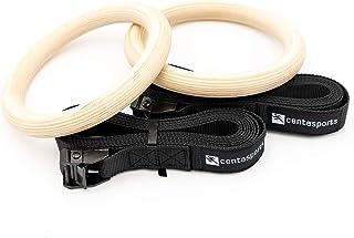 centasports 体操戒指 带重型搭扣和宽肩带