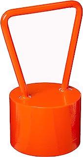 Hammer Throw Pud - 耐用钢,亮橙色投掷小狗重量练习和培训设备,适用于高中、中、大学、专业和室内田径