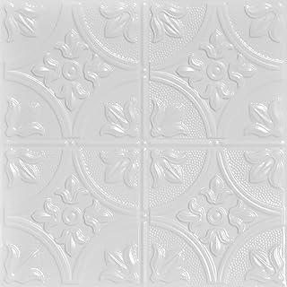 Shanko SKPC309-wh-24x24-D-12 尖头冲压金属天花板砖,白色
