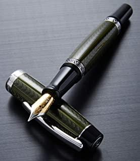 Xezo Maestro钻石切割、上漆、手工制作的镀铂精致钢笔(Maestro LG Moldivite F)