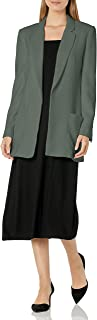 AX Armani Exchange 女式解构单排扣无纽扣绉纱外套