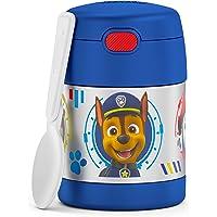 THERMOS 膳魔师 FUNTAINER 10 盎司(约 283.5 克)不锈钢真空隔热儿童食品罐,狗狗巡逻队 - 男…