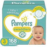 婴儿纸尿裤尺码 3,168 片 - 帮宝适 Swaddlers 婴儿尿布,每个月供应(包装可能有所不同)