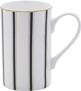 Mikasa 骨瓷咖啡杯 Stripes White/Black/Gold 16盎司 5203321