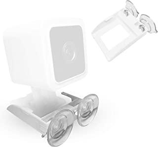 v3 Wyze 兼容*吸盘支架(不含相机) – 双吸盘支架架允许 360 度旋转 – 与窗户玻璃、镜子和光滑表面相连(v3,1 支架)