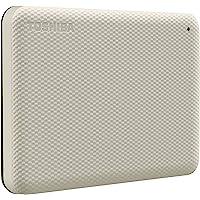 Toshiba 东芝 Canvio Advance 1TB 便携式外置硬盘 USB 3.0,白色 - HDTCA10XW…