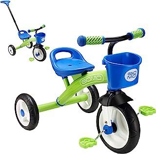 GOMO 儿童三轮车,适合 2 岁,3 岁和儿童 1-6 岁,大轮子婴儿自行车幼儿自行车 - 幼儿三轮车