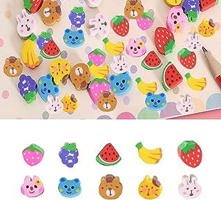 240 件动物橡皮擦,水果动物橡皮擦,新奇迷你橡皮擦,3D 动物橡皮擦,适用于儿童,香蕉葡萄草莓西瓜兔子,派对礼品,课堂和家庭作业*励(随机图案)