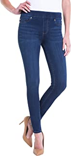 Liverpool 女式 Sienna 紧身裤套穿牛仔牛仔裤 76.20 cm 内缝